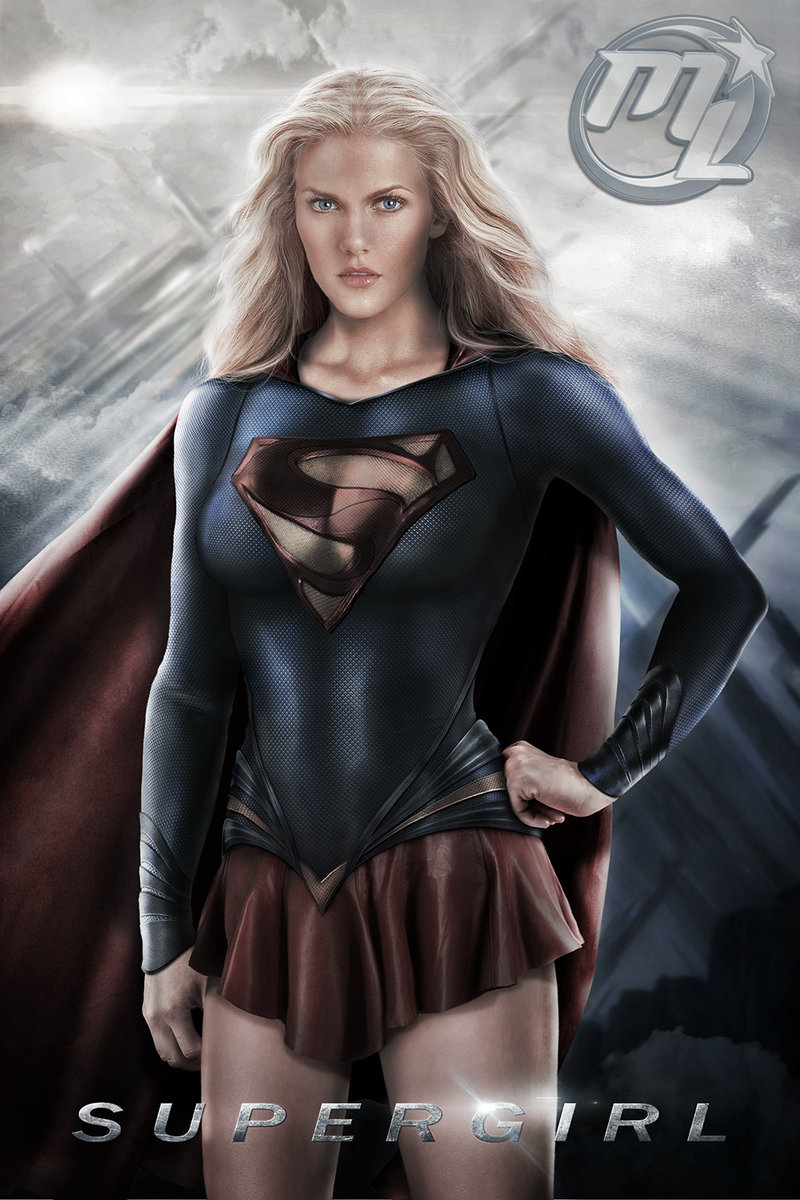 supergirl photoshop art series girl of steel geektyrant. Black Bedroom Furniture Sets. Home Design Ideas