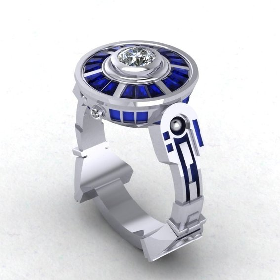 Amazing R2 D2 Wedding Ring and Bands GeekTyrant