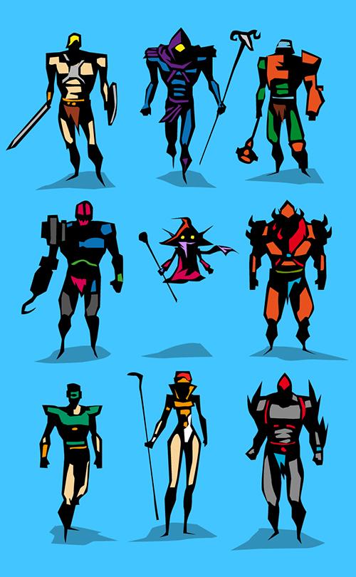 Character Design Hero : Cool unique superhero character art from bunka geektyrant