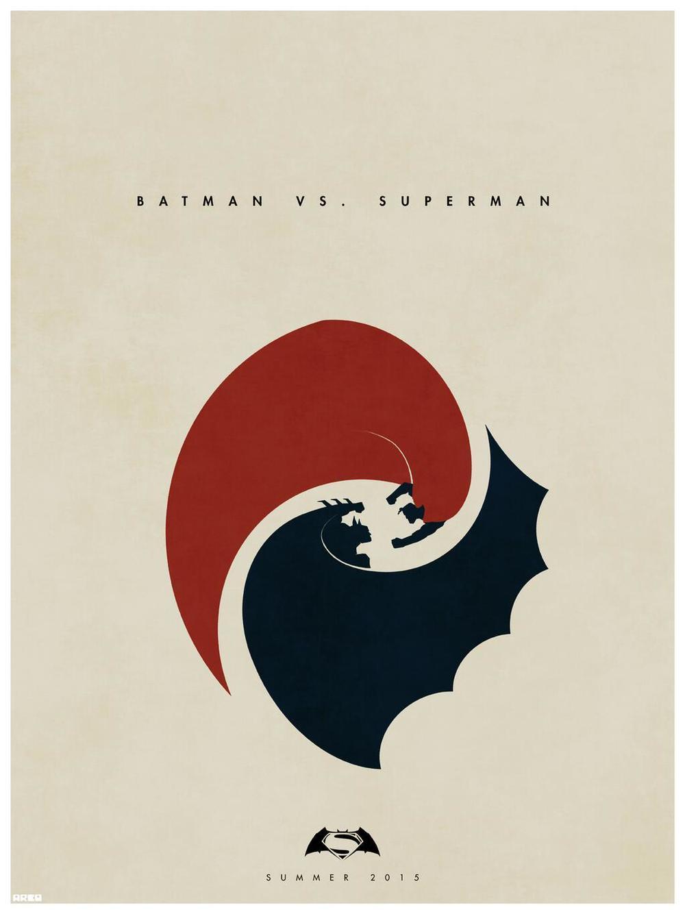 BATMAN VS. SUPERMAN Yin and Yang Fan-Made Poster Art ...