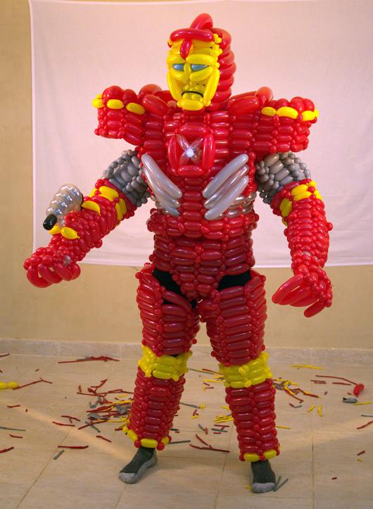 Full Iron Man Suit Using 500 Balloons Geektyrant