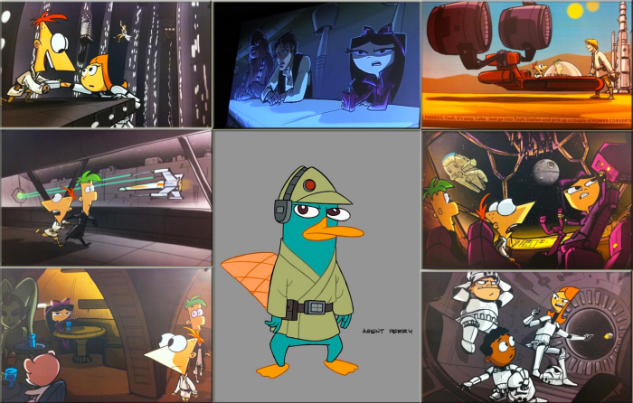 First Look at the STAR WARS PHINEAS AND FERB Episode ...