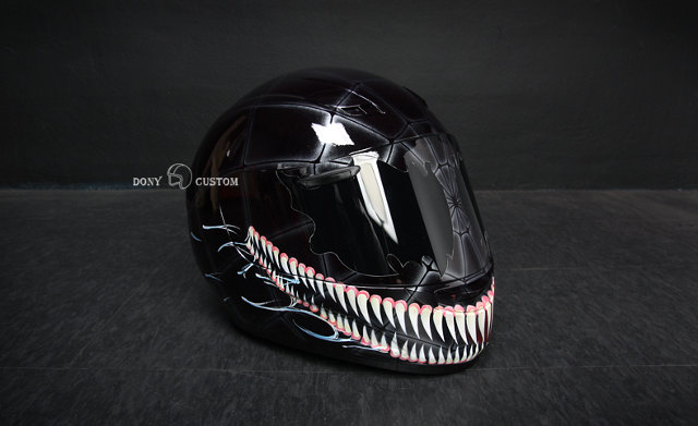 radical custom spider man motorcycle helmets geektyrant. Black Bedroom Furniture Sets. Home Design Ideas