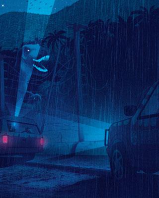 Cool Jurassic Park Poster Art Quot Turn Off The Light