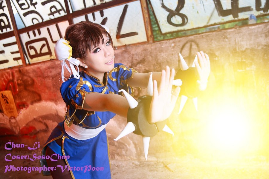 Soso Chan 1314  is Chun-Li | Photo by:  Victor Poon