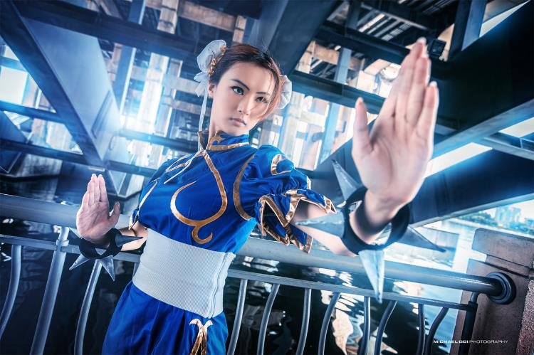 Reina L. Cheng  is Chun-Li | Photo by:  Michael Ooi