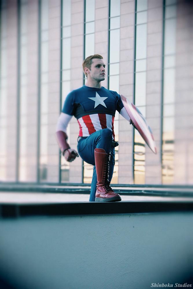 Harrison Wayne Beahnis Captain America | Photo byRisingParadise