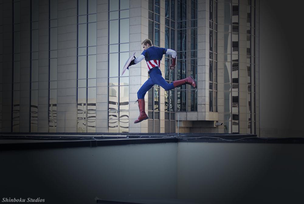 Harrison WayneBeahnis Captain America | Photo byRisingParadise