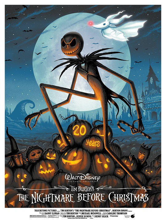 Poster Art for THE NIGHTMARE BEFORE CHRISTMAS 20th Anniversary ...