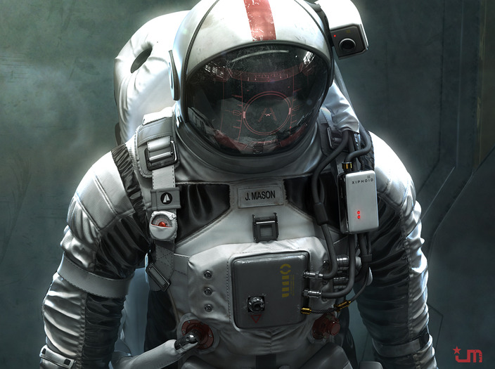 cool futuristic astronaut space suit design � geektyrant