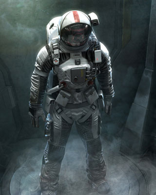 cool astronaut in space - photo #9