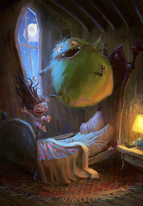 Slumber Party Monster Geek Art Geektyrant