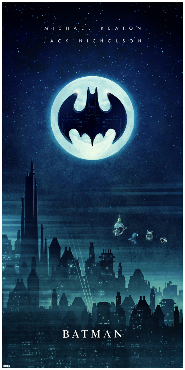 cool batman poster art he stole my balloons geektyrant. Black Bedroom Furniture Sets. Home Design Ideas