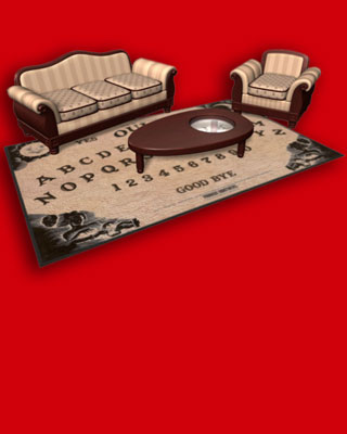 this ouija board rug and coffee table need to exist — geektyrant