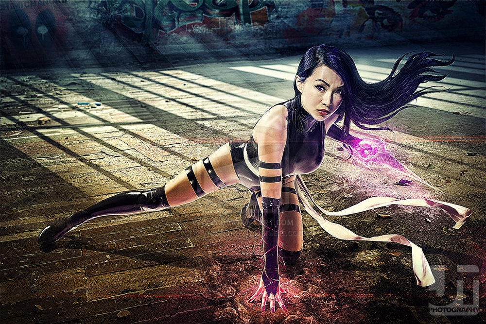 Linda Le  is Psylocke | Photo by:  Jay Tablante  | Digital Imaging by: Ghani Madueno | Art Direction by: Joe Dy