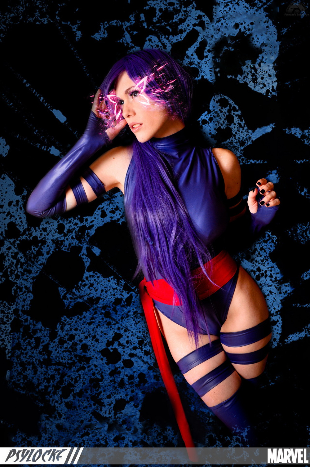 Lilia Lemoine  is Psylocke | Photo by:  Fernando Brischetto