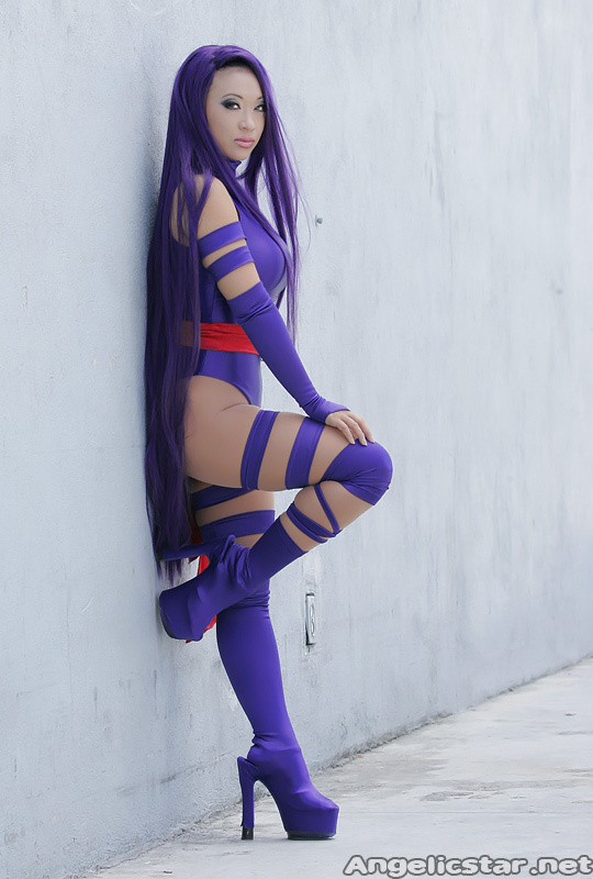 Yaya Han  is Psylocke | Photo by: Antonio Ortiz
