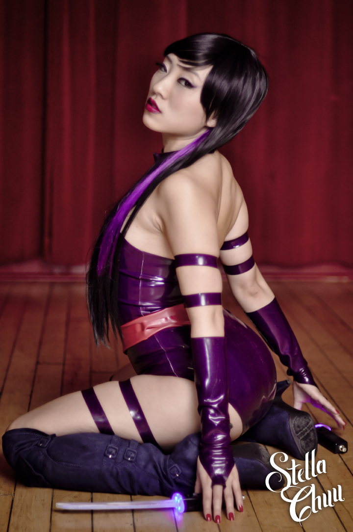 Stella Chuu  is Psylocke | Photo by:  Ron Gejon  | Costume by:  Vengeance Designs  | Swords by: Stark Naked Industries