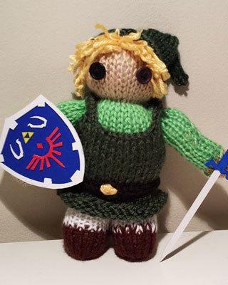 adorable legend of zelda knit plushie