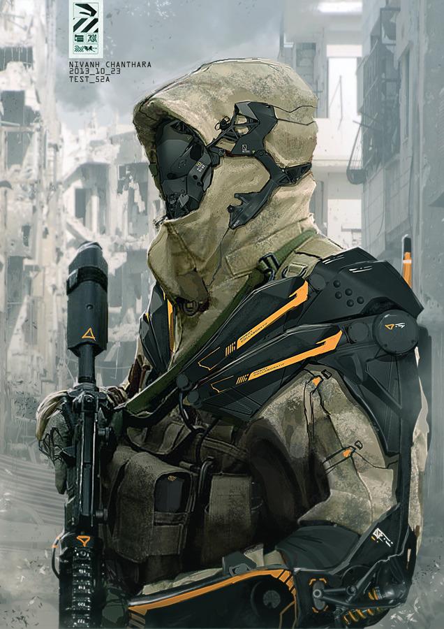 More Stunning Sci Fi Military Cyborg Art GeekTyrant