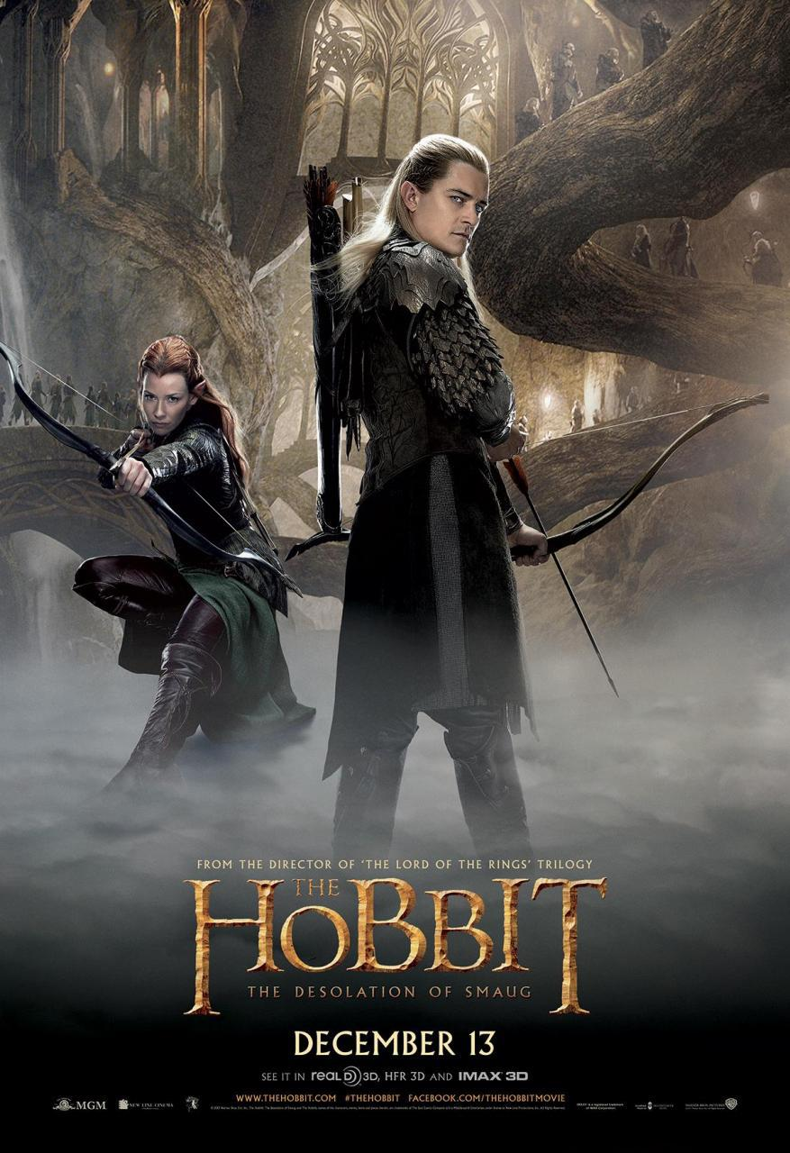 5 Character Posters for THE HOBBIT: THE DESOLATION OF ...