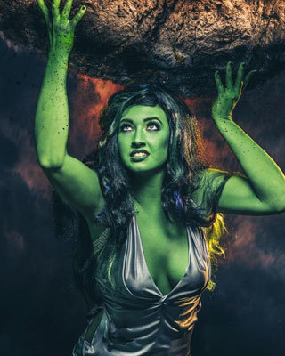 She Hulk Cosplay By Callie Cosplay Green And Red