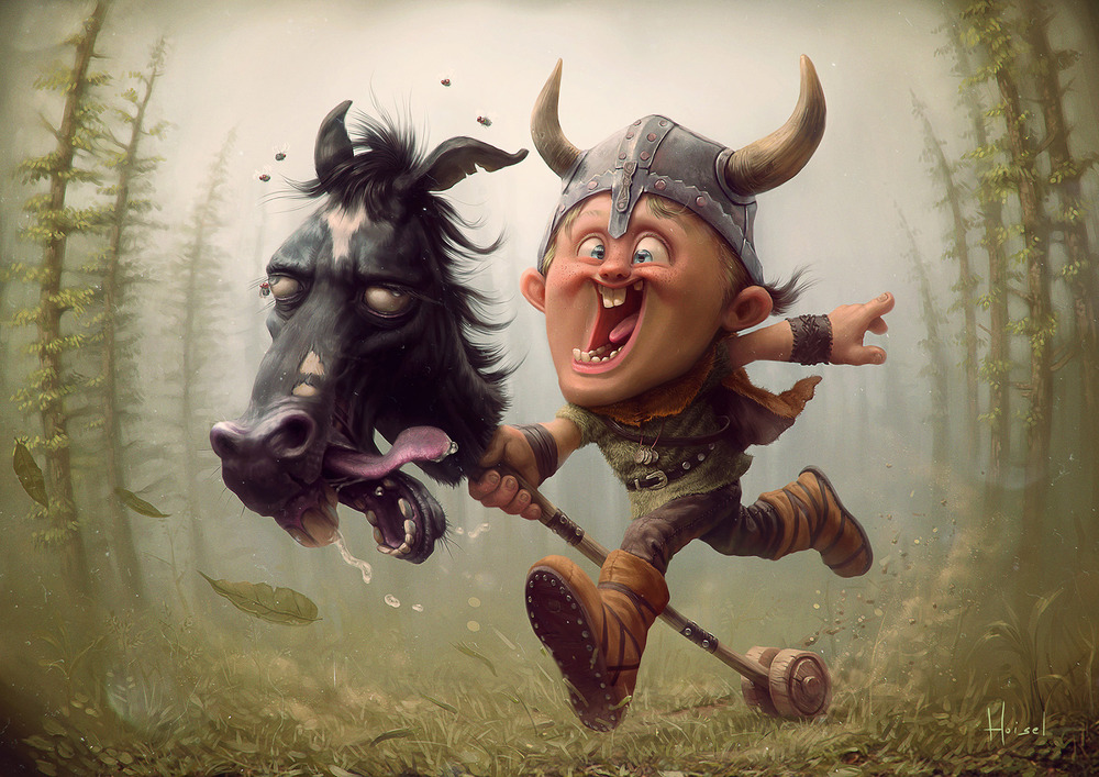 Funny Viking Boy Art Best Friends Forever Geektyrant