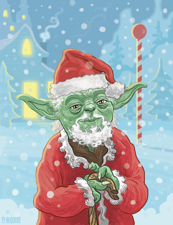 b71dbf3cddac444f8acabb83b6aa1d76jpg artist patrick mcquade has sent us another set of fantastic star wars christmas cards