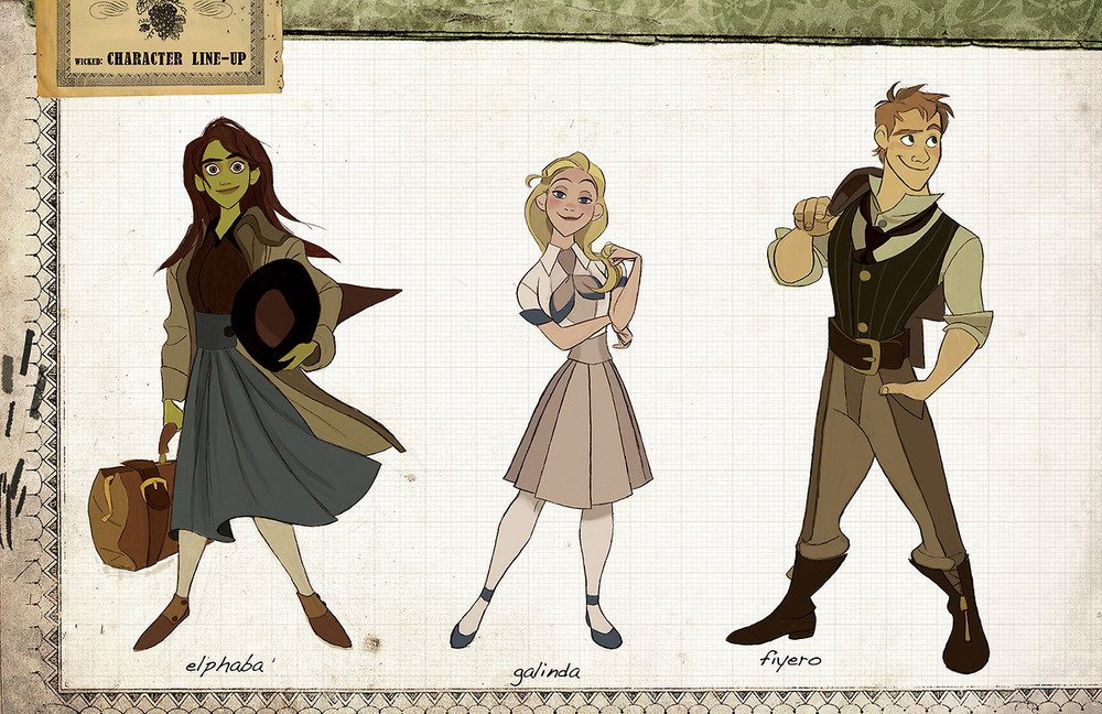 Character Design Internships : Wicked imagined as a disney animated film character art