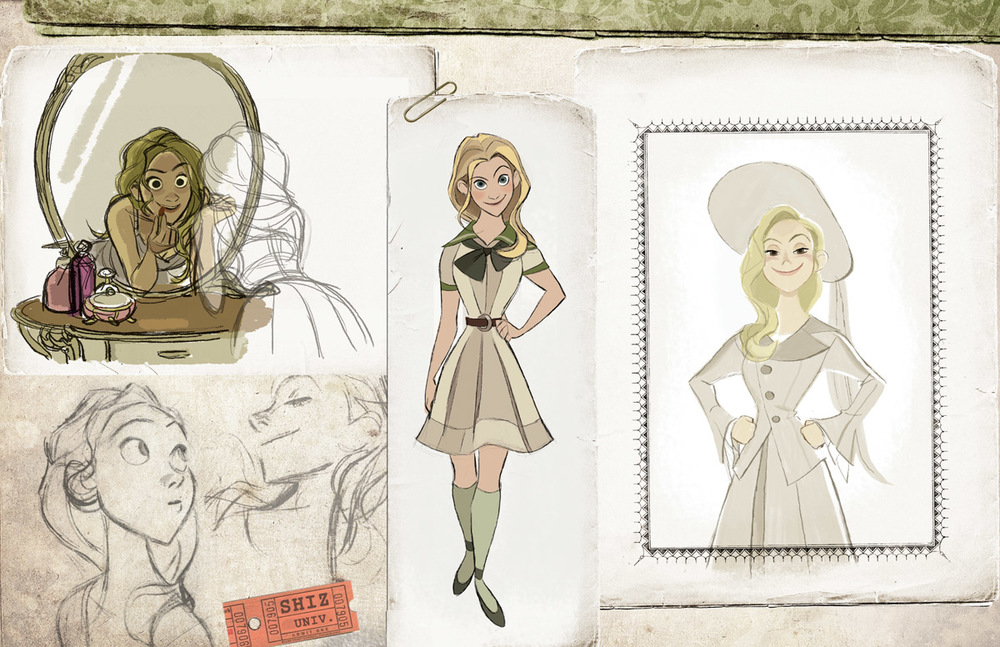 Character Design Disney Pdf : Wicked imagined as a disney animated film character art
