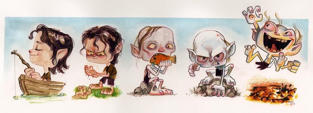 Evolution of Gollum.jpg