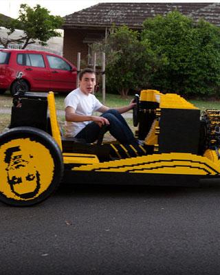Life Size Lego Car Powered By Lego Engine Geektyrant