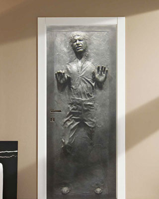 Han Solo In Carbonite Door Decal Geektyrant
