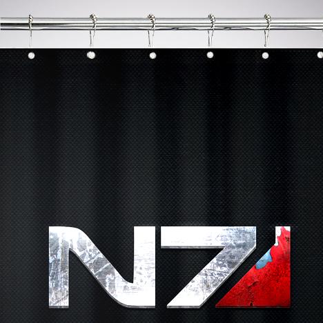 Mass Effect N7 Shower Curtain