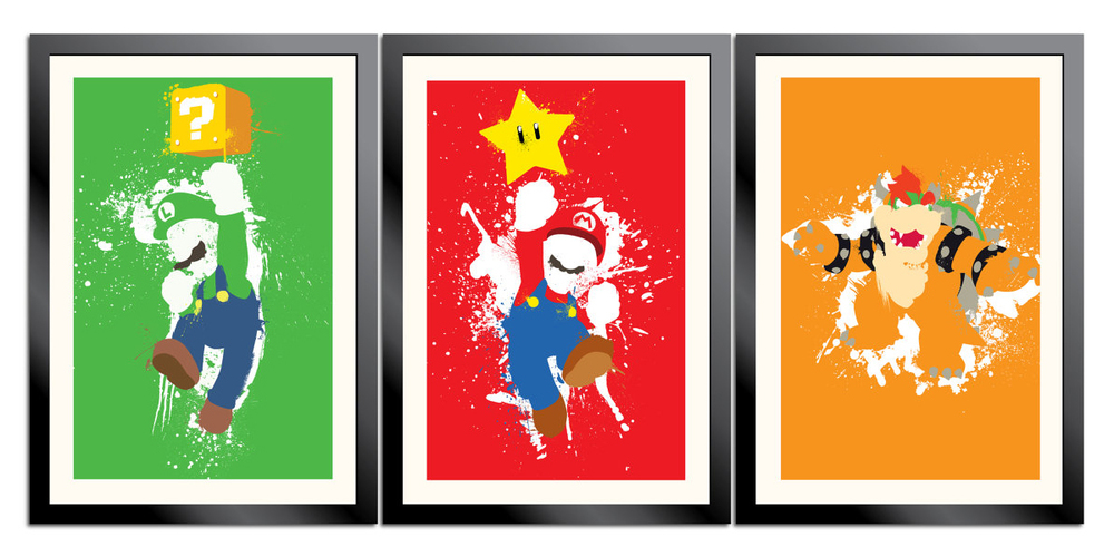 Mario Paint 3 Poster Set