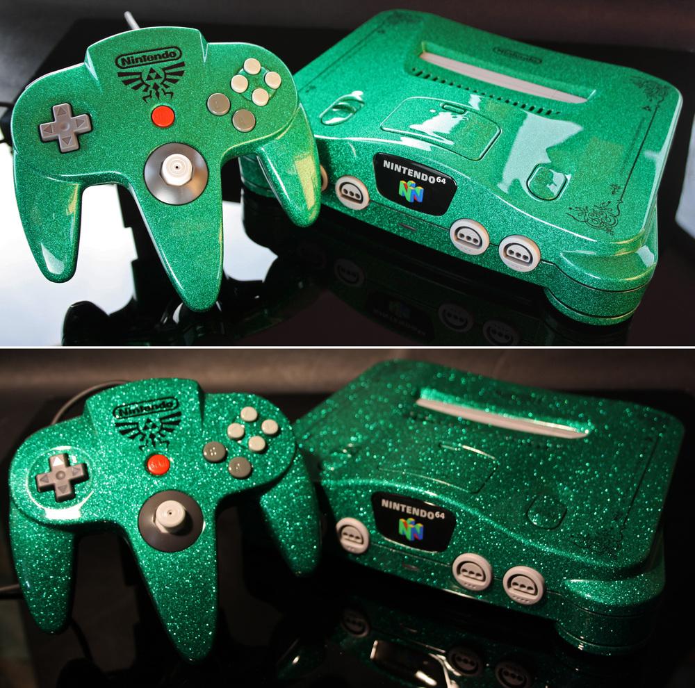 custom_zelda_nintendo_64_green_flake_finish_by_zoki64-d71iyh6.jpg