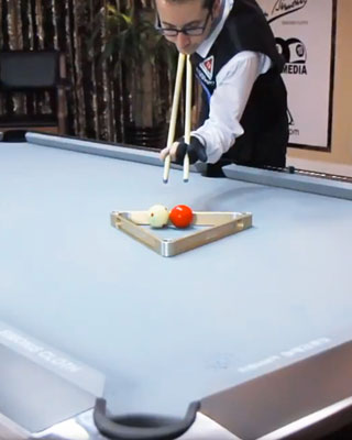 Impossibly amazing pool table trick shots geektyrant - Awesome swimming pool trick shots ...