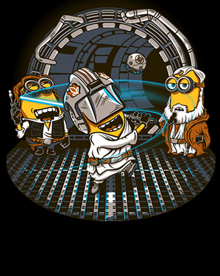 Minion Jedi Training Art Geektyrant