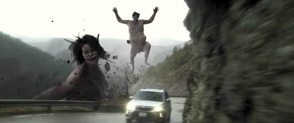 ATTACK ON TITAN: Live Action Japanese Subaru Commercial ...