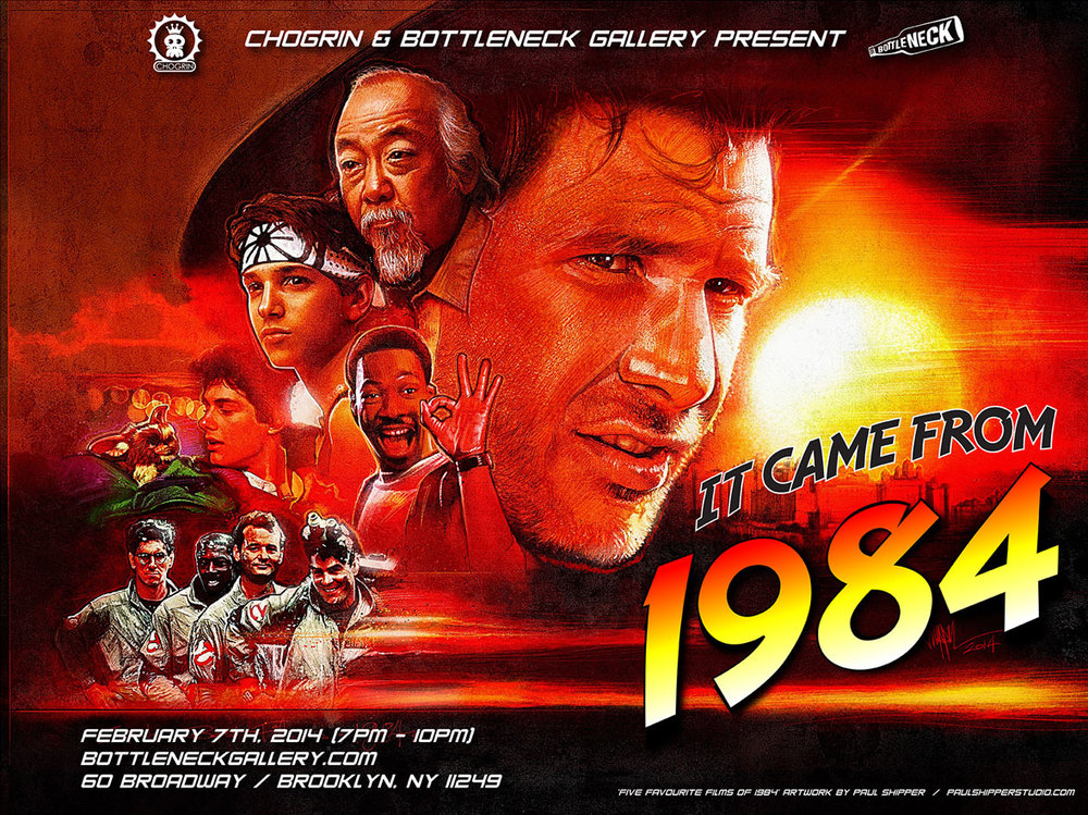 It Came From 1984 Art Show - Ghostbusters, Terminator, Indiana Jones ...