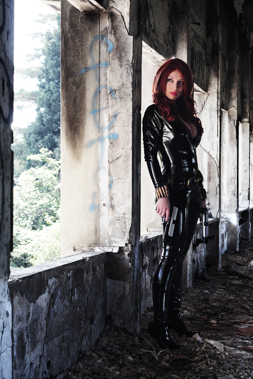 Giorgia Cosplay is Black Widow | Photo by: Daniele Faccioli