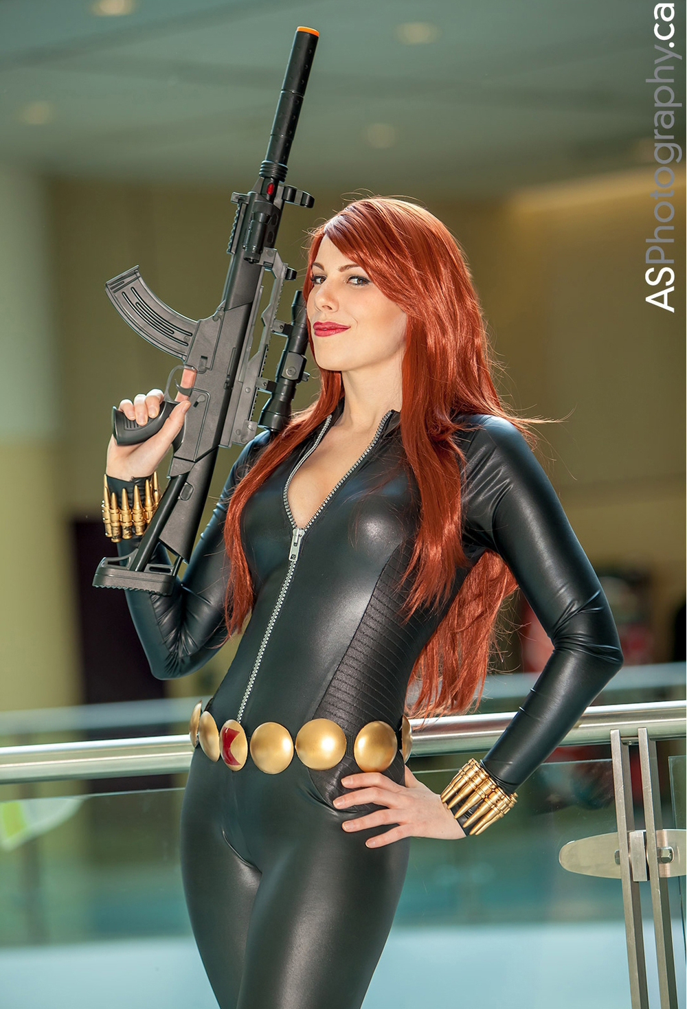 Black widow hot naked cosplay porno photos