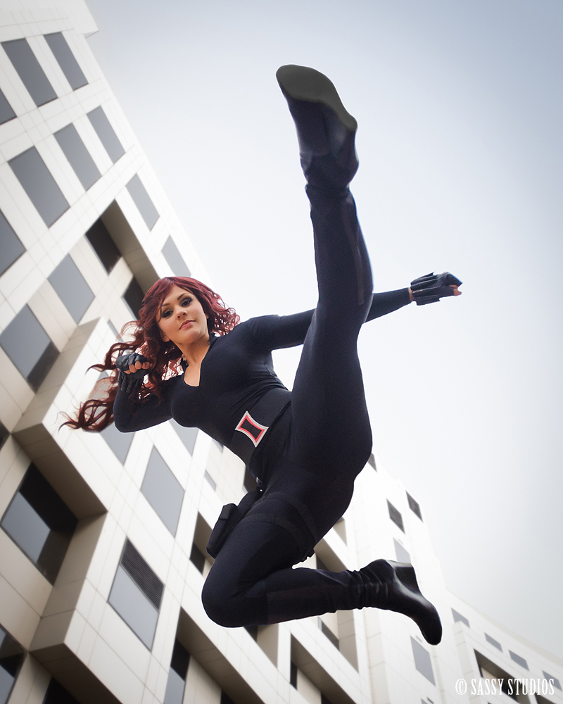 Charlotte Clark    is Black Widow | Photo by:    Sassy Studios