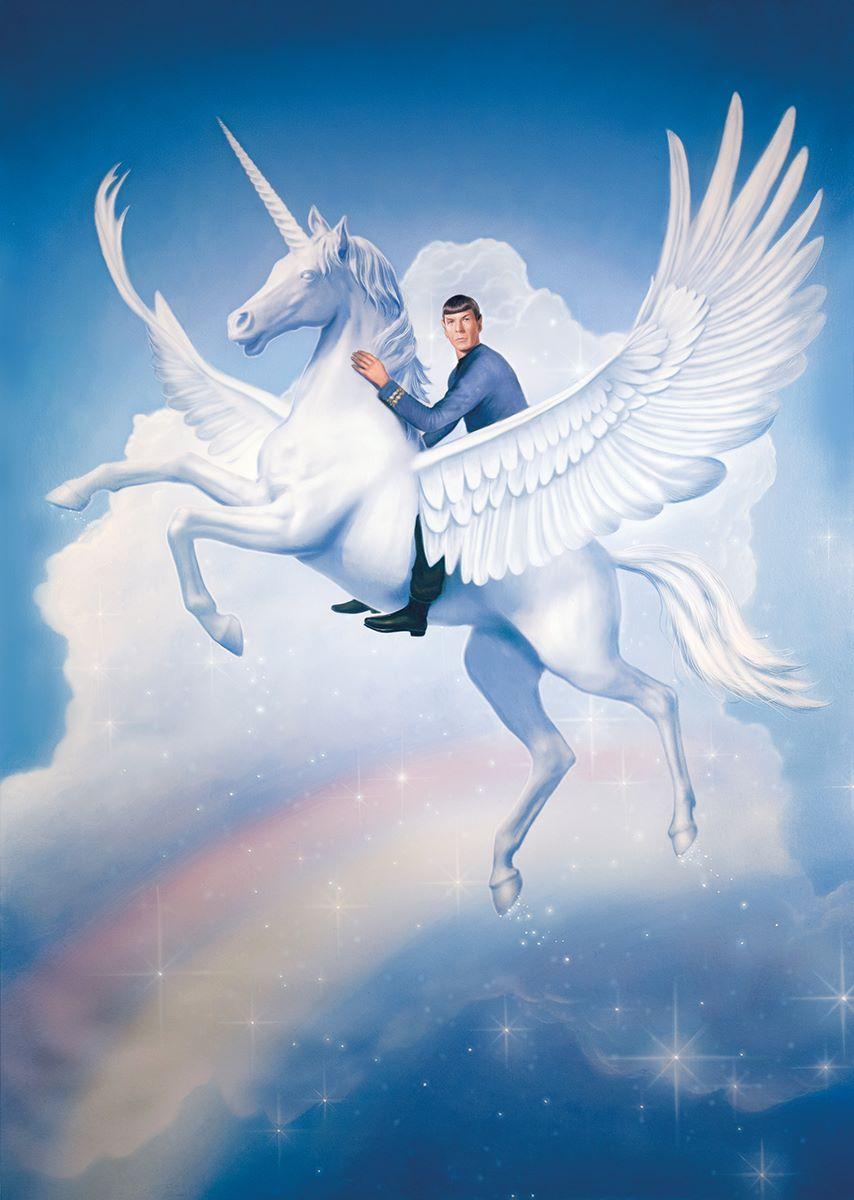 Tim-OBrien-Spock-Riding-a-Flying-Unicorn-Over-a-Rainbow.jpg