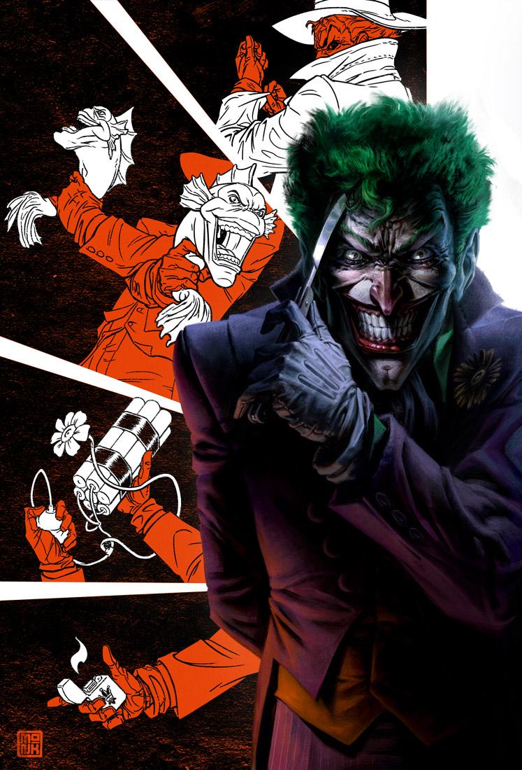 """Dc Fan Art : Harley quinn joker and batman fan art by fabian """"monk"""