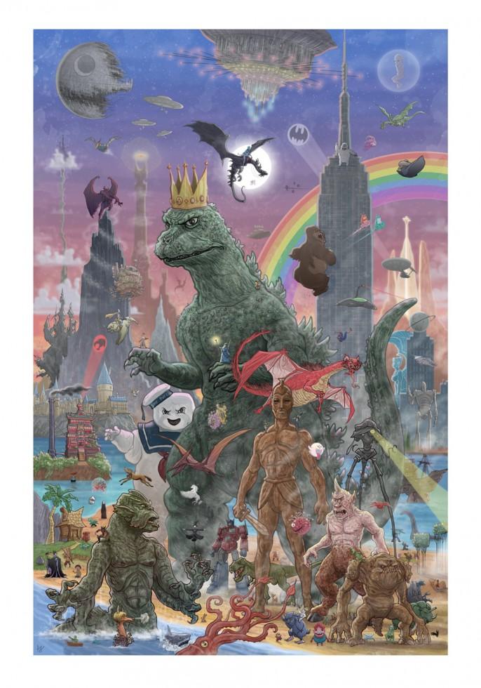 epic geek culture icon poster by pj mcquade  u2014 geektyrant
