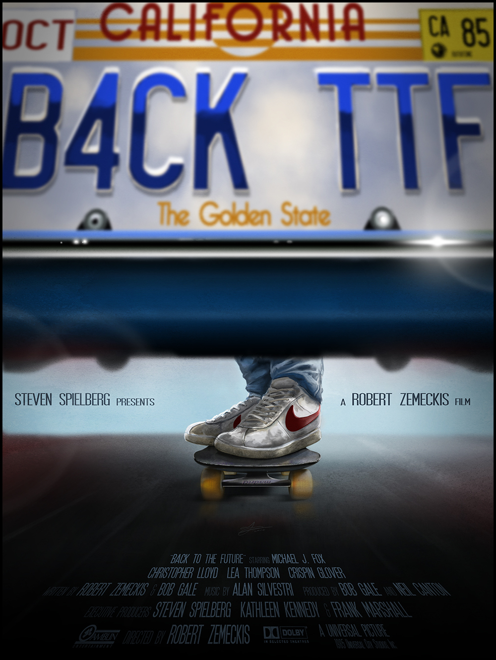 cool back to the future trilogy posters by andy fairhurst geektyrant. Black Bedroom Furniture Sets. Home Design Ideas