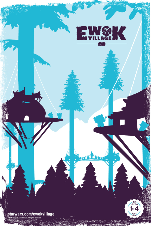 STAR WARS Ewok Village Poster Art Set — GeekTyrant