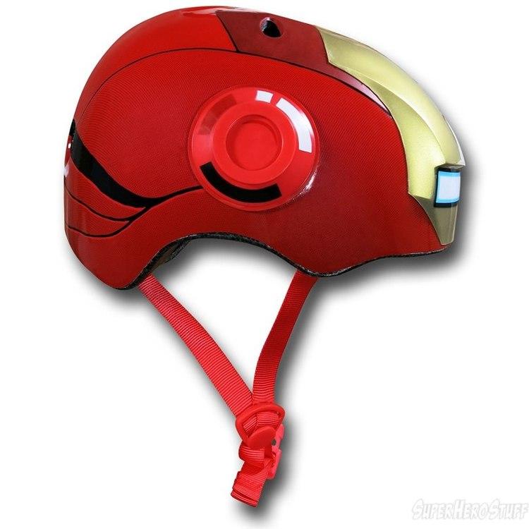 Iron Man Street Bike Helmet Iron-man-kids-bike-helmet-03