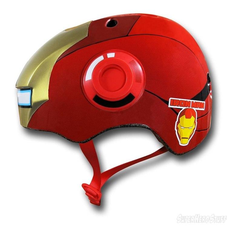 Iron Man Street Bike Helmet Iron-man-kids-bike-helmet-02